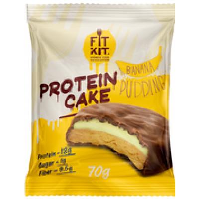 Протеиновое пирожное Банановый пудинг, FitKit, 70 г