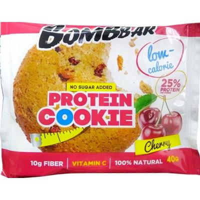 Печенье низкокалорийное протеиновое Вишня, Bombbar, 40 г