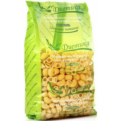 Кукурузные макароны Рожок большой, Диетика, 300 г