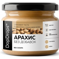 Паста Арахисовая Без добавок, DopDrops, 250 г, ст/б