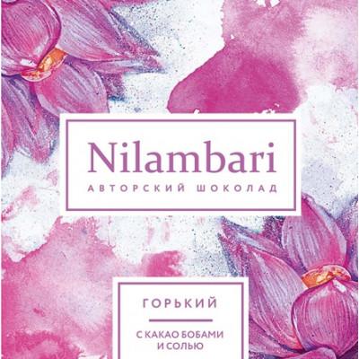Шоколад Nilambari горький с какао бобами и солью, Greenmania, 65 г