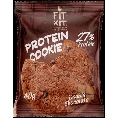 Протеиновое печенье Двойной шоколад, FitKit, 40 г