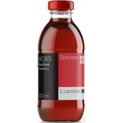 Морс низкокалорийный с L-карнитином Брусника ZERO, 0,33 л