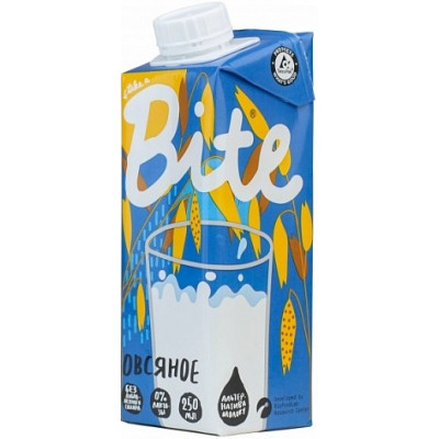 Молоко растительное Овсяное, Bitey, 250 мл