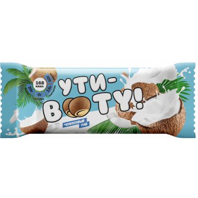 """Протеиновый батончик со вкусом """"Кокосовый рай"""" с кусочками кокоса, Ути-Booty, 60 г"""