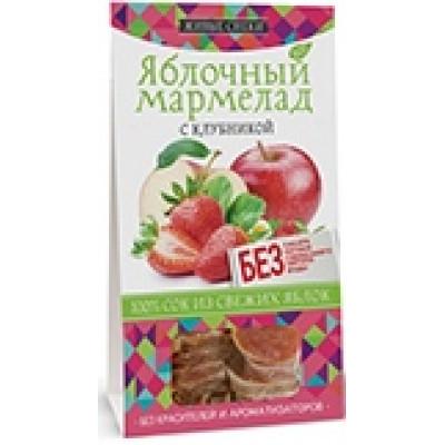 """Яблочный мармелад """"С клубникой"""", Живые Снеки,100 г"""