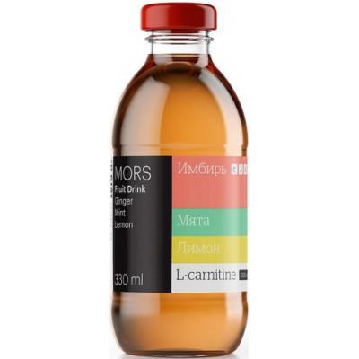 Морс низкокалорийный с L-карнитином Имбирно-лимонный с мятой ZERO, 0,33 л