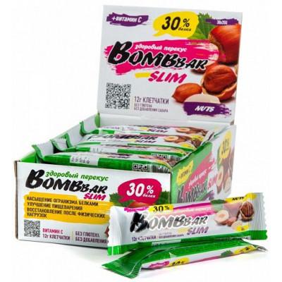 Протеиновый батончик SLIM (арахис и фундук), Bombbar, 35 г