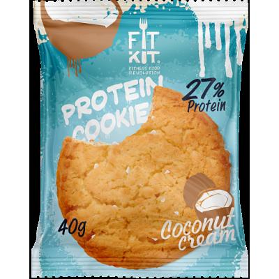 Протеиновое печенье Кокосовый крем FitKit, 40 г