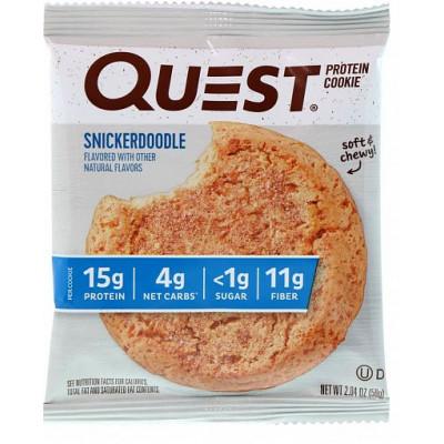 Печенье Snickerdoodle (мягкое с корицей), Quest Cookie, 58 г
