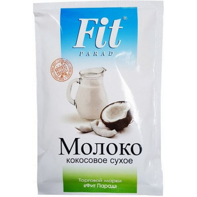 Молоко кокосовое сухое, ФитПарад, 35 г