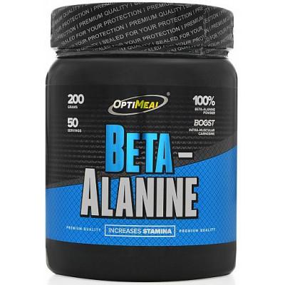 Beta-Alanine (без вкуса), OptiMeal, 200 г (50 порций)