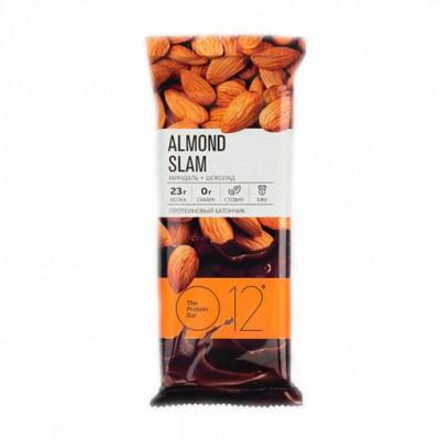 Вафельный батончик с белковой начинкой с какао и миндалем в молочном шоколаде, О12, 65 г