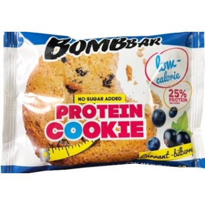 Печенье низкокалорийное протеиновое Смородина-Черника, Bombbar, 40 г