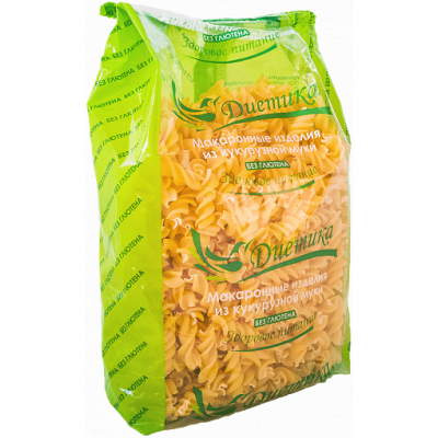 Кукурузные макароны Спираль, Диетика, 300 г