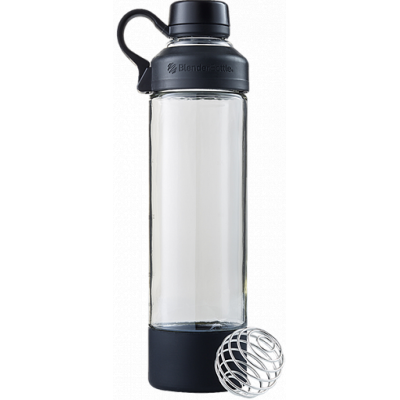 Бутылка - Шейкер Mantra 591 мл Black, Blender Bottle, стекло
