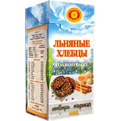 Хлебцы льняные Имбирь, Корица, Мед, Тиавит, 80 г