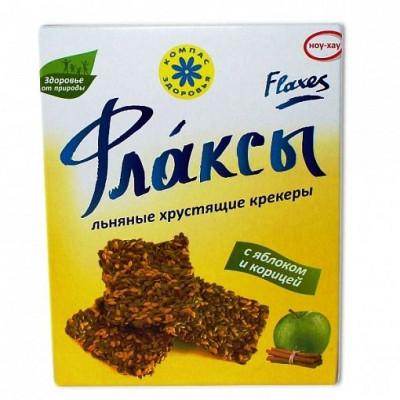 Флаксы с яблоком и корицей льняные, Компас Здоровья, 150 г