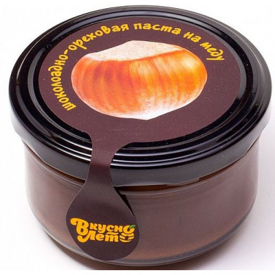 """Шоколадно-ореховая паста на меду (темный шоколад) """"Фундук"""", Вкуснолето, 170 г"""
