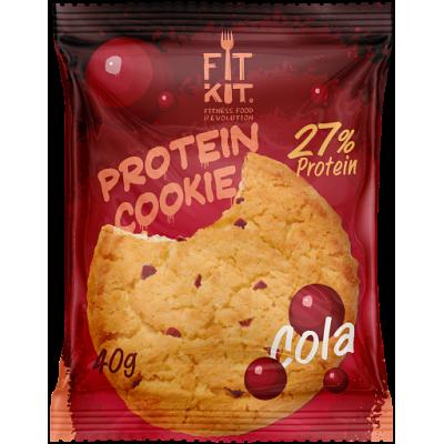 Протеиновое печенье Кола, FitKit, 40 г