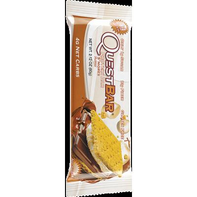 Протеиновый батончик Smores Печенье с зефиром и шоколадом, Questbar, 60 г