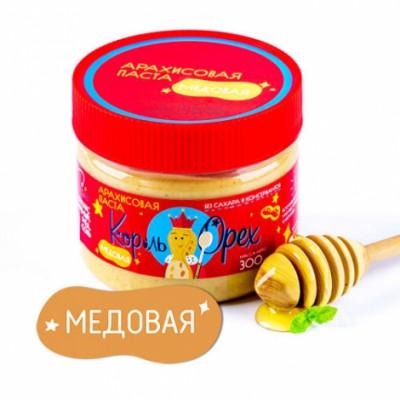 Арахисовая паста Медовая, Король Орех, 300 г
