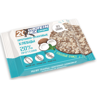 Хлебцы протеино-злаковые Кокосовый крамбл 20% Crispy, ProteinRex, 55 г