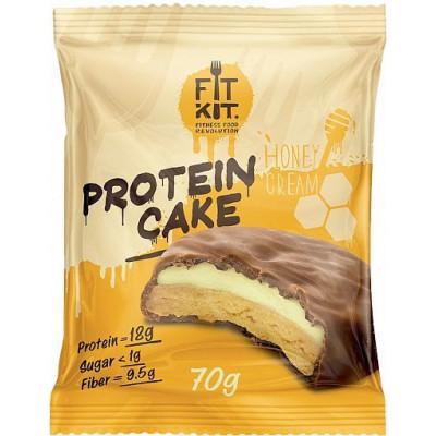 Протеиновое пирожное Медовый крем, FitKit, 70 г
