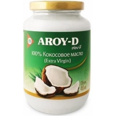 Кокосовое масло (extra virgin) 100%, AROY-D, 450 мл, ст. б.