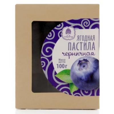 Пастила без сахара Черника, Сибирский кедр, 100 г