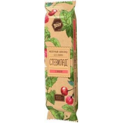 """Стевилад молочный шоколад """"Вишня"""" №2, Вкуснолето, 50 г"""