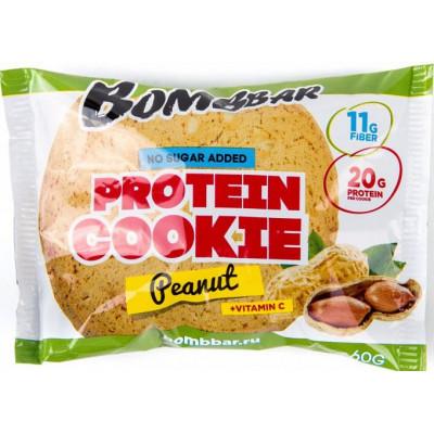 Печенье протеиновое Арахис, Bombbar, 60 г