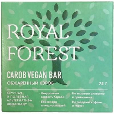 Шоколад из обжаренного кэроба Веганский, Royal Forest, 75 г
