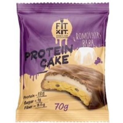 Протеиновое пирожное Ромовая баба, FitKit, 70 г