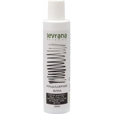 Чёрная мицеллярная вода для снятия макияжа (детокс), Levrana, 200 мл