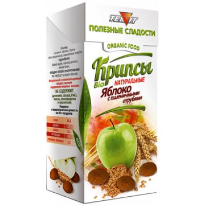 Крипсы яблочные c Пшеничными отрубями, Тиавит, 30 г
