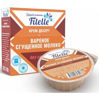 """Крем-десерт """"Вареное сгущенное молоко"""", Fitelle, 100 г"""