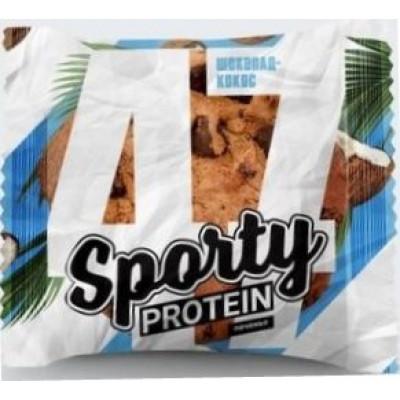 Печенье Sporty Protein Шоколад-Кокос, Sporty, 65 г