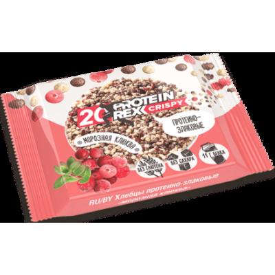 Хлебцы протеино-злаковые Морозная клюква 20% Crispy, ProteinRex , 55 г