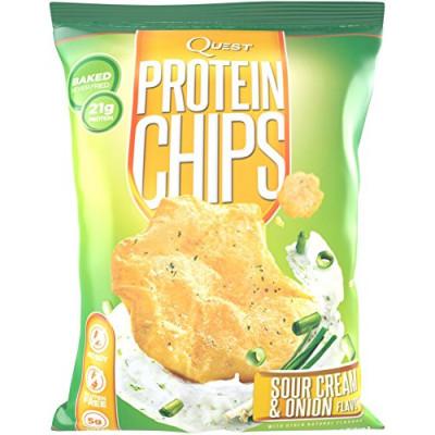 Протеиновые чипсы Сметана-Зеленый Лук, Quest Nutrition, 32 г
